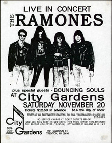 The Ramones November 20, 1993 8.5x11 Promotional Concert Poster Un-signed