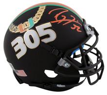 Miami Ray Lewis Authentic Signed Schutt 305 Mini Helmet BAS Witnessed