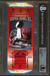 Steelers Hines Ward Authentic Signed SB XL Replica Ticket Stub BAS Slabbed