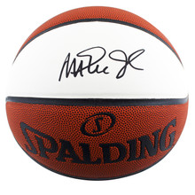 Lakers Magic Johnson Authentic Signed Spalding White Panel Basketball BAS Wit