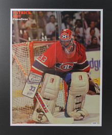Canadiens Patrick Roy Authentic Signed & Matted Magazine Page Poster PSA #W83770