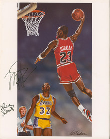 Michael Jordan & Dean Smith Authentic Signed 11x14 Mounted Photo BAS #AA03811