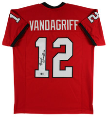 Georgia Brock Vandagriff Authentic Signed Red Pro Style Jersey Autographed BAS