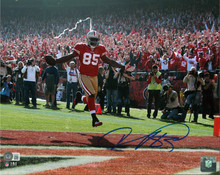 49ers Vernon Davis Authentic Signed 11x14 Photo Autographed BAS Witnessed