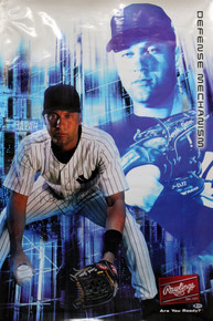 Yankees Derek Jeter Authentic Signed 24x36 Poster Autographed BAS #A10915