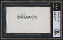 Red Wings Vladimir Konstantinov Authentic Signed 3x5 Index Card BAS Slabbed