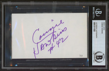 Suns Connie Hawkins Authentic Signed 3x5 Index Card Autographed BAS Slabbed