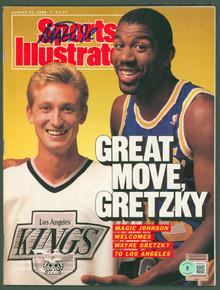 Lakers Magic Johnson Signed August 1988 Sports Illustrated Magazine BAS #WP80035