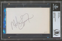 Mike Eruzione Authentic Signed 3x5 Index Card Autographed BAS Slabbed