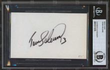 Ducks Teemu Selanne Authentic Signed 3x5 Index Card Autographed BAS Slabbed