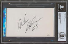 Red Wings Nicklas Lidstrom Authentic Signed 3x5 Index Card BAS Slabbed