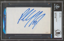 Red Wings Paul Coffey Authentic Signed 3x5 Index Card BAS Slabbed