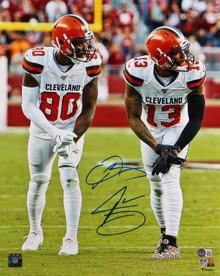 Browns Odell Beckham Jr. & Jarvis Landry Signed 16x20 Vertical Photo BAS Witness