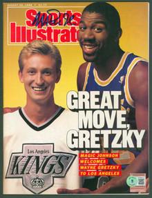 Lakers Magic Johnson Signed August 1988 Sports Illustrated Magazine BAS #WP80012