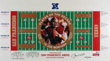 49ers Joe Montana Authentic Signed 16..5x29.75 Lithograph LE #283/2000 BAS