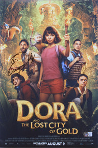 (2) Derbez & Wahlberg Dora And The Lost City Of Gold Signed 12x18 Photo BAS