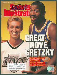 Lakers Magic Johnson Signed August 1988 Sports Illustrated Magazine BAS #WP80021
