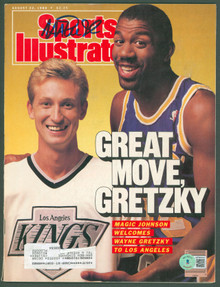 Lakers Magic Johnson Signed August 1988 Sports Illustrated Magazine BAS #WP80010