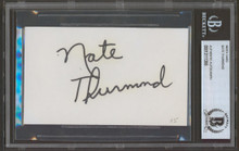 Warriors Nate Thurmond Authentic Signed 3x5 Index Card Autographed BAS Slabbed
