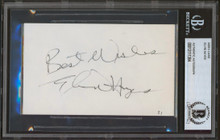 """Bullets Elvin Hayes """"Best Wishes"""" Authentic Signed 3x5 Index Card BAS Slabbed"""
