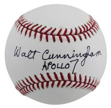 Walt Cunningham Apollo 16 Apollo 7 Authentic Signed Oml Baseball BAS #BB41956
