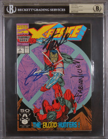 (3) Stan Lee, Liefeld & Nicieza Authentic Signed X-Force #2 Comic BAS Slabbed
