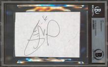 Flames Joe Nieuwendyk Authentic Signed 3x5 Cut Signature Autographed BAS Slabbed