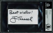 """Ohio State Jim Tressel """"Best Wishes"""" Authentic Signed 2x4 Cut Signature BAS Slab"""