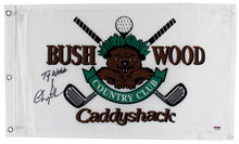 """Chevy Chase """"Ty Webb"""" Signed Bushwood Country Club Pin Flag PSA/DNA Itp #7A92316"""