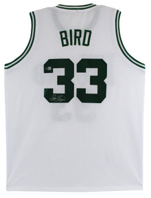 Larry Bird Authentic Signed White Pro Style Jersey Autographed BAS