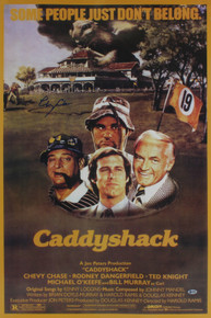 Chevy Chase Caddyshack Authentic Signed 23.5x35.5 Poster BAS Witnessed #I49990