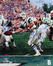 1968 Jets (25) Namath, Maynard Signed 16x20 Super Bowl III Photo PSA/DNA #U03480