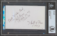 """76ers Hal Greer """"Best Wishes, Bud"""" Authentic Signed 3x5 Index Card BAS Slabbed"""