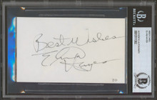 """Bullets Elvin Hayes """"Best Wishes"""" Signed 3x5 Index Card Autographed BAS Slabbed"""