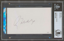 Braves Greg Maddux Authentic Signed 3x5  Index Card Autographed BAS Slabbed