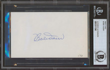 Red Sox Bobby Doerr Authentic Signed 3x5 Index Card Autographed BAS Slab