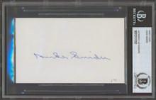 Dodgers Duke Snider Authentic Signed 3x5 Index Card Autographed BAS Slab