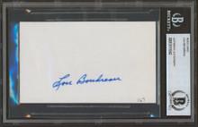 Indians Lou Boudreau Authentic Signed 3x5 Index Card BAS Slabbed