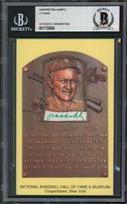 Tigers Ty Cobb Writing Sample 3.5x5.5 HOF Plaque Postcard BAS Slabbed 4