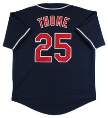 Jim Thome Authentic Signed Navy Blue Pro Style Jersey BAS Witnessed #N93359
