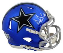 Cowboys Dak Prescott Authentic Signed Flash Speed Mini Helmet BAS Witnessed