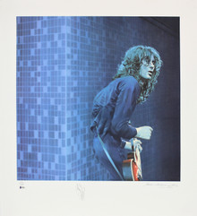 Jimmy Page Led Zeppelin Signed 30x33 LE Artist Print Litho #202/300 BAS #A05235