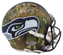 Seahawks DK Metcalf Authentic Signed Camo Full Size Speed Rep Helmet BAS Witness