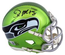 Seahawks DK Metcalf Authentic Signed Flash Speed Mini Helmet BAS Witnessed
