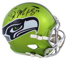 Seahawks DK Metcalf Signed Flash Full Size Speed Rep Helmet BAS Witnessed