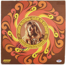 John Mayall Authentic Signed Live In Europe Album Cover W/ Vinyl PSA/DNA #S80783
