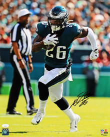 Eagles Miles Sanders Authentic Signed 16x20 Vertical Photo JSA Wit #WPP890767