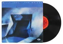 Billy Joel Authentic Signed The Bridge Album Cover W/ Vinyl BAS #H14988