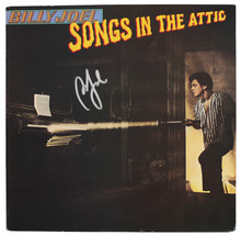 Billy Joel Authentic Signed Songs In The Attic Album Cover W/ Vinyl BAS #S21238