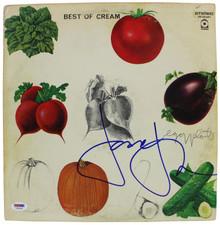 Jack Bruce Cream Authentic Signed Best Of Cream Album Cover W/ Vinyl PSA #T76234